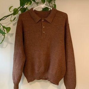 Oversized wool knit sweater